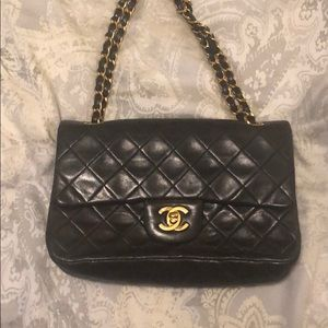 Classic Chanel double strap quilted bag